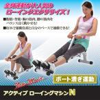 アクティブ ローイングマシンN エクササイズ ボート漕ぎ 筋肉 トレーニング 筋トレ 運動 腹筋 背筋 カロリー
