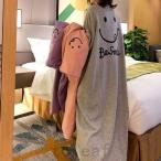 ルームウェアレディースもこもこかわいいワンピースパジャマ秋冬ニコちゃんカジュアル寝巻き部屋着ホームウェアもこもこフリース大きいサイズxl