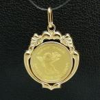 エンジェルコイン K24(純金) 1 / 25オンス エンジェルコイン K18枠付きペンダントトップ
