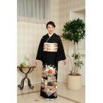 結婚式 黒留袖 レンタル Mサイズ SOMM043 京友禅源氏絵 母親 親族 京都