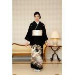 ショッピングレンタル 結婚式 黒留袖レンタル Mサイズ SOMM066 京友禅若松鶴文 親族 京都