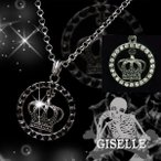 GISELLE ジゼル Crowne Eblem Pendant ユニセックス ネックレス ペアでも人気 王冠 クラウン