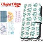 AQUOS SERIE mini SHV38 ケース 手帳型 スマホケース アクオス au shv38 カバー 携帯 デザイン Chupa Chups チュッパチャプス