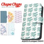 AQUOS R compact SHV41 ケース 手帳型 スマホケース アクオス au shv41 カバー 携帯 デザイン Chupa Chups チュッパチャプス