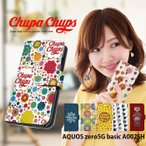 AQUOS zero5G basic A002SH ケース 手帳型 カバー a002sh 手帳型ケース デザイン chupa chups チュッパチャプス