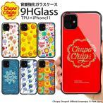 iPhone11 ケース iPhone 11 カバー チュッパチャプス 背面ガラス スマホケース 携帯 アイフォン11 かわいい きれい おしゃれ Chupa Chups デザイン