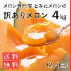 専門店の【訳あり】富良野メロン 4kg 【2〜3玉】