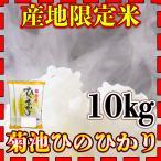 産地限定米新米28年産九州熊本県菊池産ヒノヒカリ10kg/5kg×2個/ひのひかり/白米/条件付き送料無料