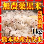 九州熊本県産黒米1kg/古代米/条件付き送料無料