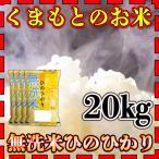 米 20kg 九州 熊本県産 ひのひかり 無洗米 新米 令和2年産 ヒノヒカリ 5kg4個 精白米 くまもとのお米 kuma-kome