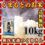 米 10kg 九州 熊本県産 森のくまさん 無洗米 令和元年産 送料無料 5kg2個 精白米 くまもとのお米