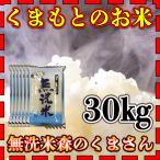 無洗米 令和元年産 1年産 2019年産 九州 熊本県産 森のくまさん 30kg 白米 くまもとのお米 水節約