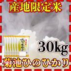 米 30kg 九州 熊本 菊池産 ひのひかり 令和元年産 ヒノヒカリ あすつく 精白米 5kg6個 産地限定米 くまもとのお米