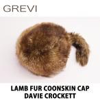 ショッピングファー Grevi グレヴィ レディース ラムファー ear-muff付属 デザインクロケット 約57