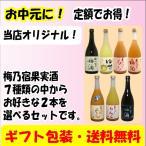 ショッピングお中元 (お中元に!)梅乃宿 果実酒 720ml選べる2本セット(送料など無料)