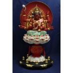 木彫仏像 愛染明王座像 総高50cm 桧木 彩色(受注生産)