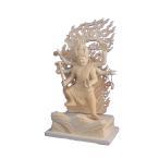 木彫仏像 鳥枢沙摩明王立像(ウスサマ)5.0寸桧木   ひのき 送料無料(受注生産)