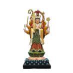 木彫仏像 宇賀弁才天立像6.0寸桧木彩色(受注生産)