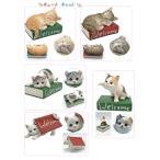 猫雑貨 リアルな猫のかわいい置物 キュートキャット 5種類