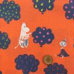 綿麻キャンバス ムーミン柄(オレンジ) ERI SHIMATSUKA
