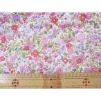 ナイロンオックス ピンクの小花柄 キルト