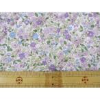 ナイロンオックス 藤色の小花柄 キルト