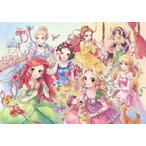 500ピース ジグソーパズル ディズニー ピュアリーディズニープリンセス ぎゅっとシリーズ  ステンドアート  25x36cm
