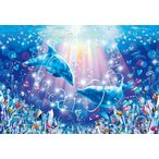 ・ジグソーパズル 300ピース ラッセン リング オブ ラブ 光るパズル (26x38cm)  28-315(エポック社)梱60cm