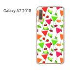 Galaxy A7 2018 ケース カバー デザイン  ゆうパケ送料無料 スイーツ・さくらんぼ(白)/galaxya72018-pc-new1052