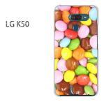 ゆうパケ送料無料 LG K50   スイーツ・マーブルチョコ(ブラウン)/lgk50-pc-ne186