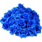バラ 造花 花びら 良コスパ60個 インテリア 結婚式 イベント 飾り付け ブーケ ブルー