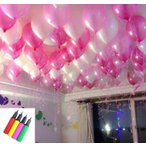風船 バルーン お姫様 カラー 150個 空気入れ セット 演出 飾り付け ピンクXホワイト