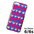 ★ 送料無料 iPhone6 iPhone6s クリアスマホケース iPhone6対応ケース (IPT-06) : animal mask BL×RD