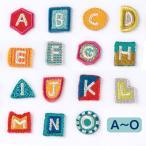 AIUEO アップリケ ワッペン アルファベット A〜O イニシャル アイロン シール 刺繍 (aqin_aqing_a_o)