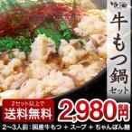 もつ鍋 もつ鍋セット ホルモン鍋 国産 醤油 300g ちゃんぽん麺 スープ