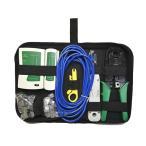 日本全国送料無料 厳選工具・充実LAN圧着工具LANテスターLANケーブル等アクセサリーセット