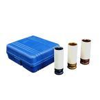 ホイールナット用 ソケットレンチ 3本セット 17mm19mm21mm インパクトソケット ケース入