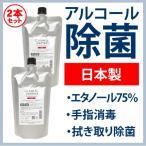 日本製 エタノール 70%以上 液体 99.99%除菌 手指消毒 クリーン&プロテクト アルコール除菌スプレー 400ml 送料無料 詰替用 2本セット 15%OFF あすつく
