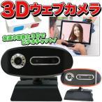 ◆ついで買いセール◆ 映像が飛び出す!skype/ビデオチャット/動画撮影もOK 3Dメガネ付き ◇ 3Dウェブカメラ