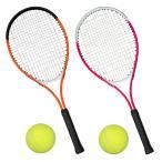 ◆リニューアルOPEN◆ 豪華3点!ガット張り上げ済み 26inch テニスラケット/硬式ボール/専用ケース ◇ テニスラケットセット