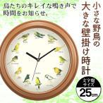 壁掛け時計 12種類の鳥の鳴き声で時間をお知らせ アナログ時計 ウォールクロック 大型 おしゃれ デザイン インテリア プレゼント ■■ ◇ 野鳥の掛け時計