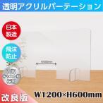 [日本製] 飛沫遮断 透明クリア PETパーテーションW1200*H600mm 窓付き デスク用仕切り板 コロナウイルス対策 [受注生産、返品交換不可] pet-r12060-m30