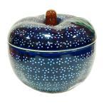 ポーランド食器 ポーリッシュポタリー 「ボレスワヴィエツ」 りんごポット GU1425-226A 藍地×白小花