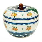 ポーランド食器 ポーリッシュポタリー 「ボレスワヴィエツ」 りんごポット GU1425-479 オレンジ柄