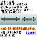 ビレットグリル(エアダムバンパーロアー) いすゞ大型 ギガ(H19.3〜H22.4) ステンレス製 交換式 3011133 年式・型式・車体番号が必要です。