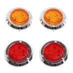 ジムニー JA11 JA12 汎用 LEDテールランプ LEDウィンカー セット 丸形 17連LED テールライト ウインカー