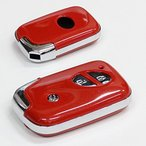 レクサス 純正適合 初期 スマートキーカバー 高級仕上ロージーレッド LEXUS スマートキーケース 保護カバー レクサス用 鍵 キーレス キーレスカバー キーケース