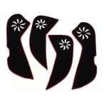 マツダ アテンザ GJ系 キックマット キックガード ドア 内装 保護 トリム ガード アンダーカバー キズ防止 プロテクター ドレスアップ カスタム パーツ