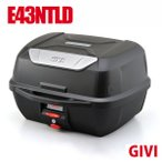 GIVI リアボックス トップケース モノロックケース 大容量 43L E43NTLD ベース付 カラー 未塗装ブラック 高品質 バイク用ボックス テールボックス ジビ