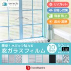 ガラスフィルム 窓 目隠しシート「10種類から選べる」ガラスシート 窓 装飾フィルム 曇りガラス プライバシー対策 透明 UVカット 飛散防止 「merunasi」